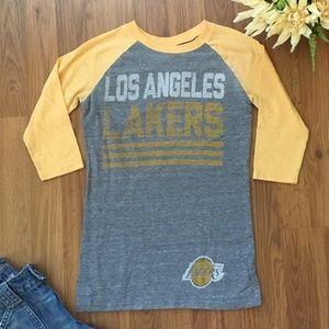LOS ANGELES LAKERS Womens Cut Adidas T Shirt